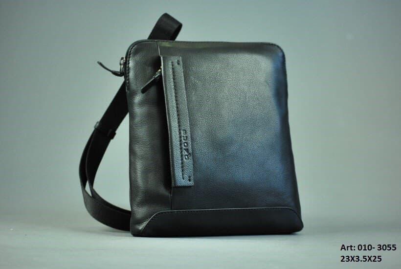 Мужская кожаная сумка BUONO 010-3055 BLACK