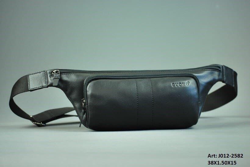 Кожаная сумка BUONO J012-2582 BLACK
