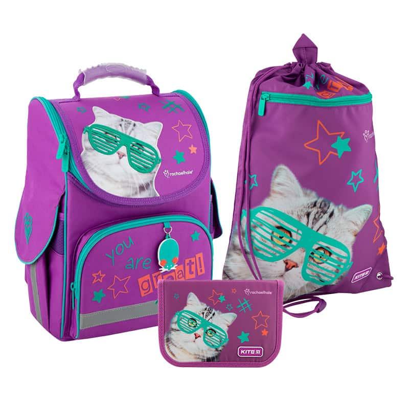 Школьный набор Kite.Ортопедический рюкзак пенал сумка SET_R20-501S